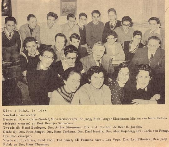1955-klas 4HBS-met namen