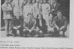 1964-1965-klas HBS-5 A-met namen